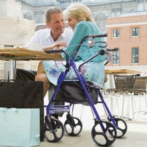 Wheelchair-like rollators