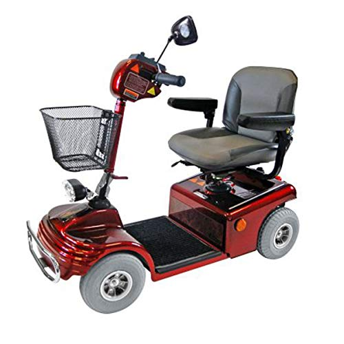 Roma Shoprider Sovereign 4 Electric Mobility Scooter – Detachable and Adjustable Swivel Seat – Off Board Charging – 4 Wheel Travel Mobility Vehicle