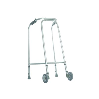 Aidapt Ultra Narrow Lightweight Walking Frame with Wheels Small (Eligible for VAT relief in the UK)