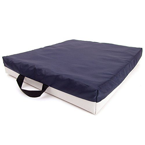66Fit Sitting/Wheelchair Gel Cushion - Blue/White, 40 X 45 X 7 cm