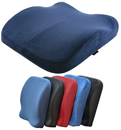 Medipaq® The Memory Foam Contoured Seat & Back Cushion - Reduce Back Ache, Improve Posture!