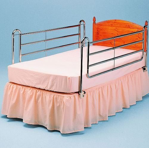 NRS Healthcare Extra High Chrome Bed Rails (Eligible for VAT relief in the UK)