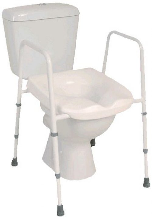 NRS Healthcare G44869 Mowbray Free Standing & Adjustable Toilet Seat and Frame - PRE-ASSEMBLED