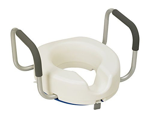 Patterson Medical Raised Toilet Seat with Arms