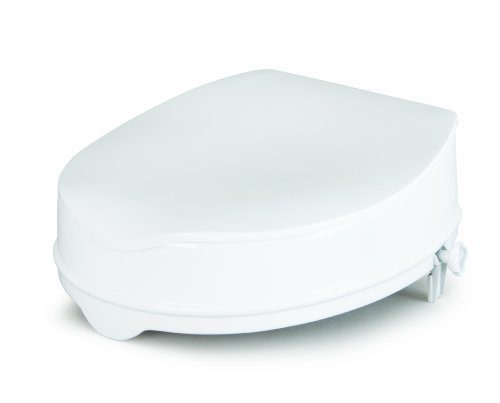 Savanah Raised Toilet Seat with Lid 10 cm/4 Inches